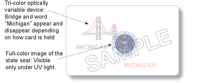 michigan id security features